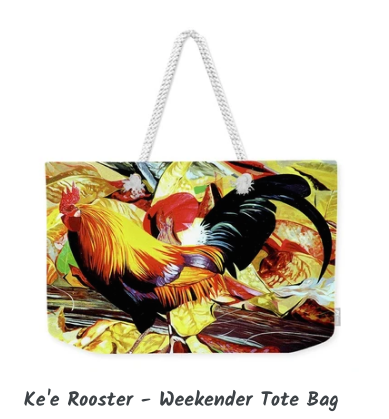 MARK ART TOTE BAG- KE'E ROOSTER