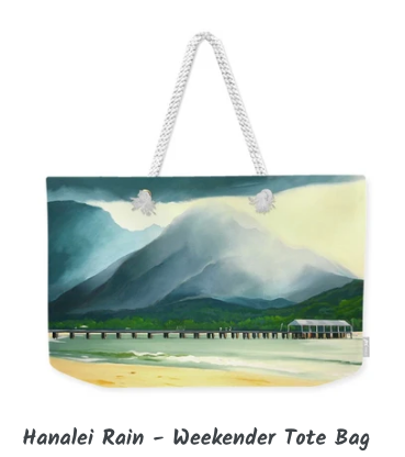 MARK ART TOTE BAG- HANALEI RAIN