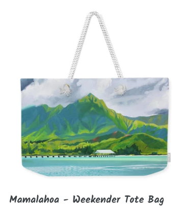 MARK ART TOTE BAG- MAMALAHOA
