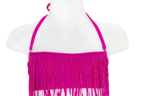 KIDS FRINGE TOP- FUSHIA