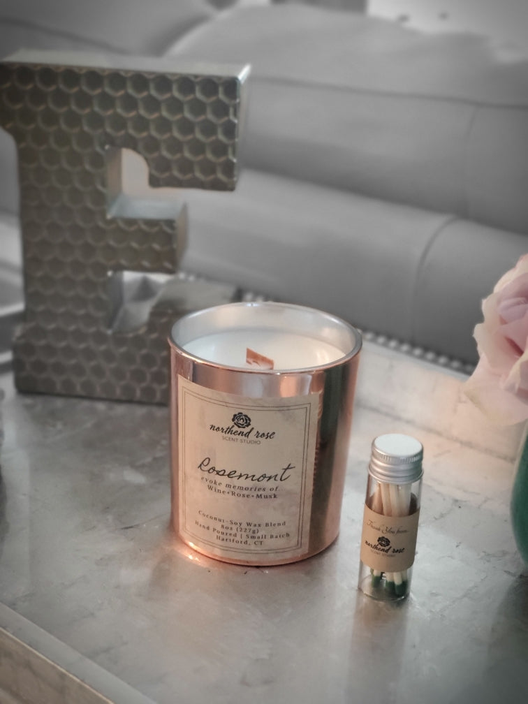 NorthEnd Rose Rosemont Candle from the Hartford Scents Collection