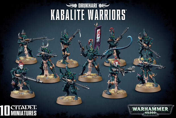 Wh40k: Drukhari Kabalite Warriors