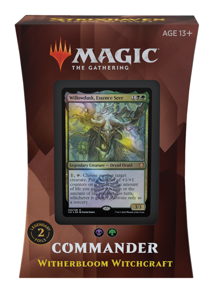 Magic the Gathering; Strixhaven Commander Deck; Witherbloom Witchcraft