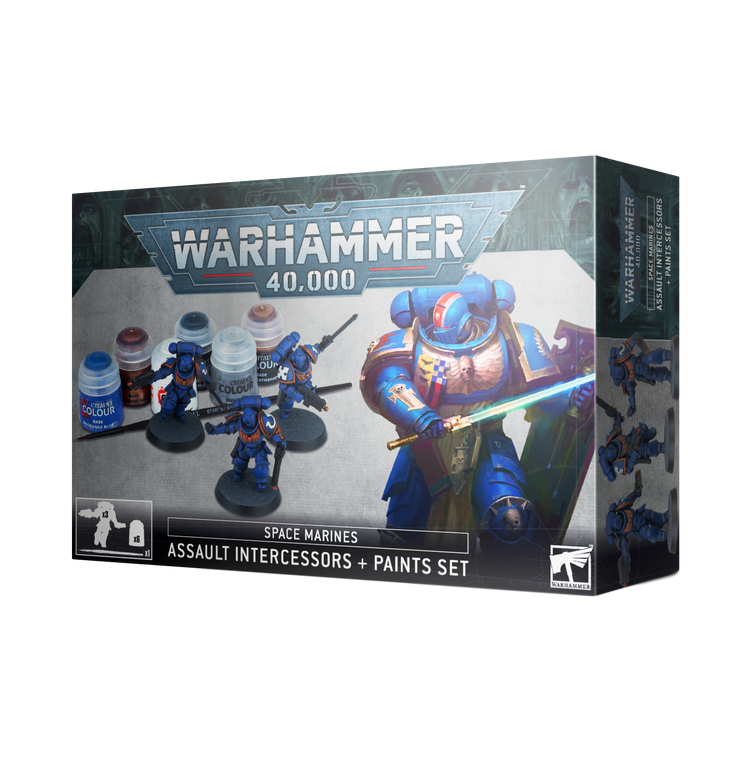 Wh40k: Assault Intercessors + Paints Set