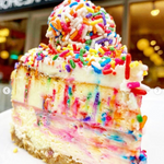 FUNFETTI CHEESECAKE SLICE