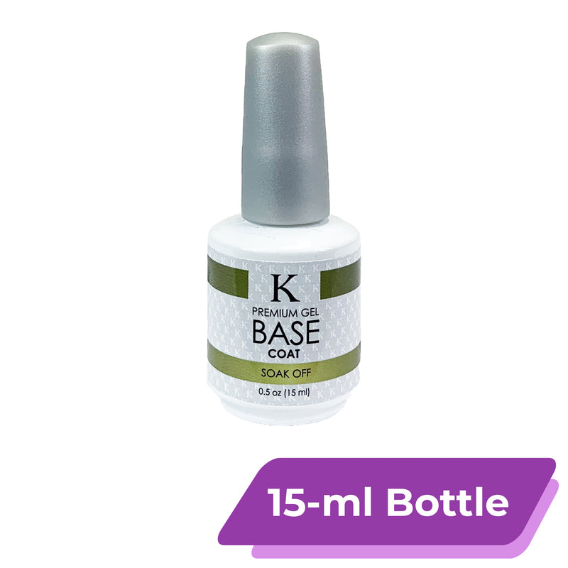 K Premium Gel Base Coat | Soak Off [15-ml Bottle]