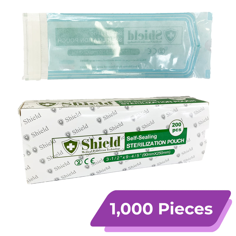 "Sterilization Pouch with Self-Sealing Strip | Size: 9.8"" x 3.5"""