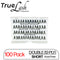 TrueLash Knot-Free Eyelash Extensions | 12-Ply, Double | 100-Pack