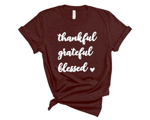 Thankful crew neck tee
