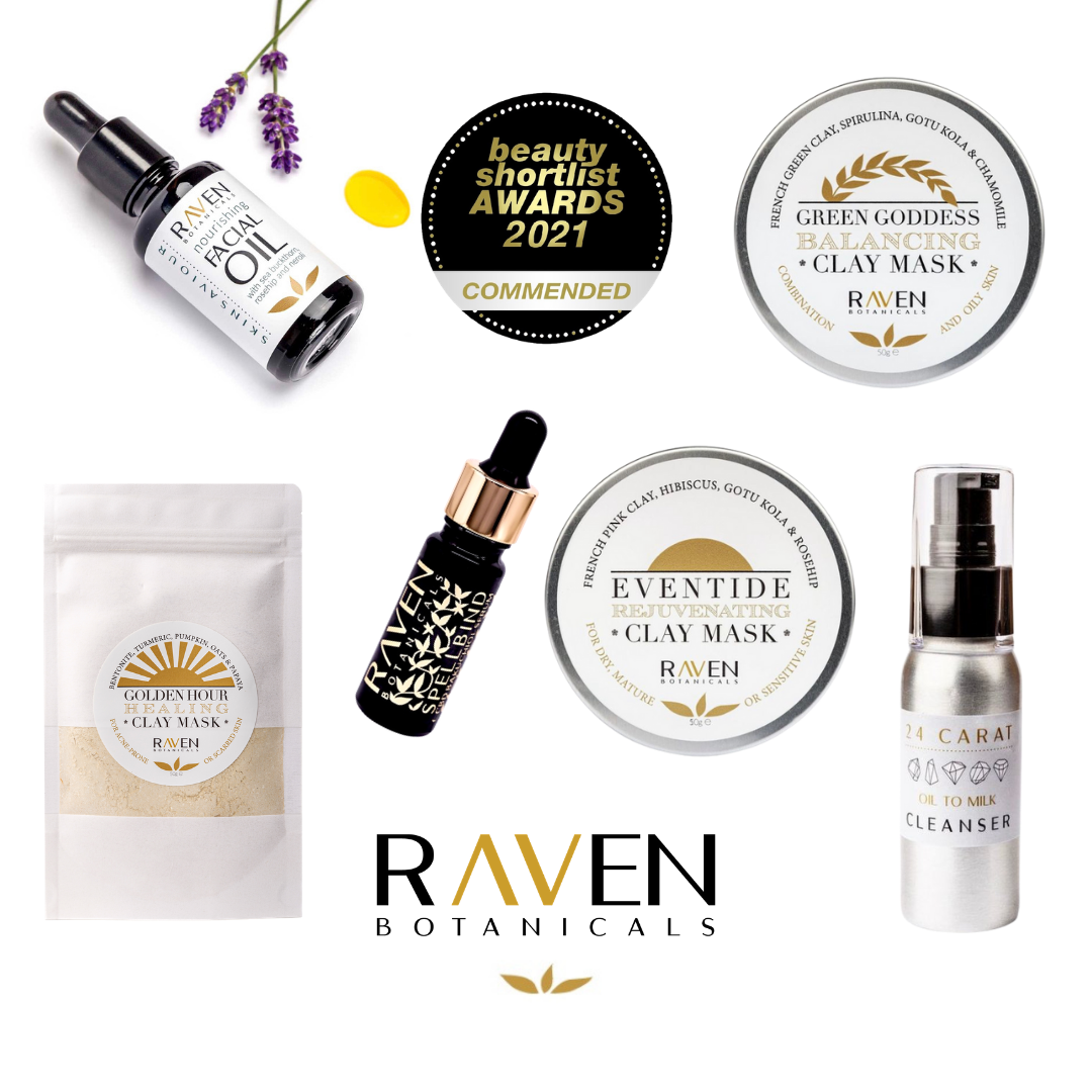 Raven Botanicals wins SIX commendations in the Beauty Shortlist Awards!