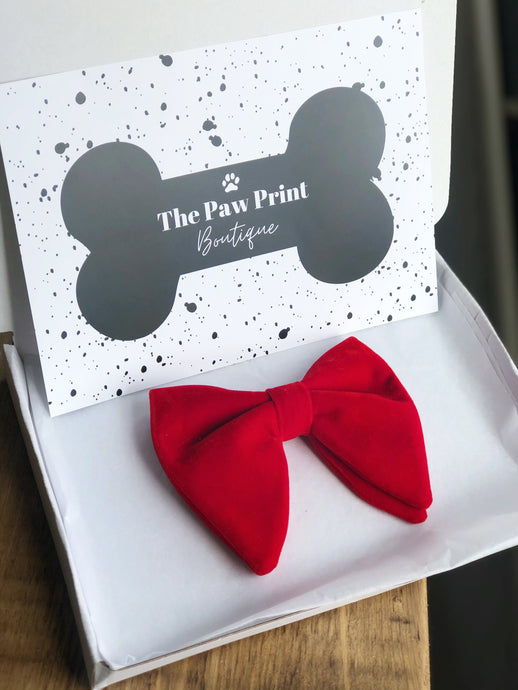 The Red Velvet Pupcake Bow Tie