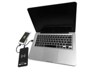 MacBook charging FoneSaver Power Bank while charging iPhone