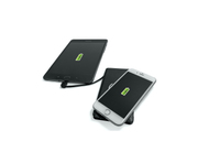 FoneSaver Power Bank wirelessly charging iPhone and tablet