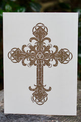 "NCT; Notecards; Trinity Cross; 5.5"" x 4"" Kraft Card; Blank Inside; 8 Cards, 8 Envelopes; ; Majestees"