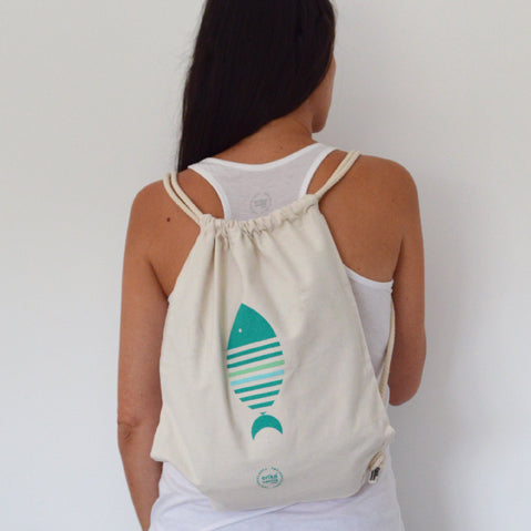 Mochila Natural Pez - Mojo Art Shop