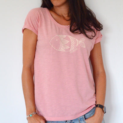 Camiseta Rosa Pez - Mojo Art Shop
