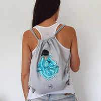 Mochila Gris Barbudo - Mojo Art Shop