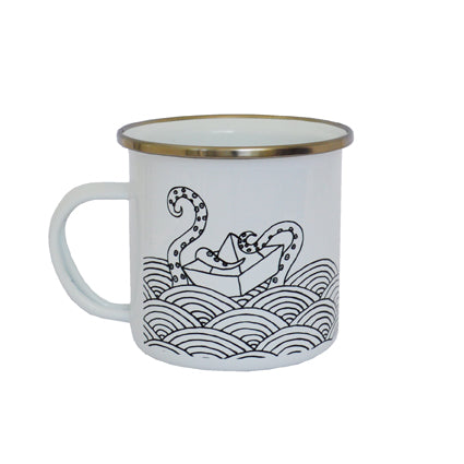 Taza Vintage The Sea Rules - Mojo Art Shop