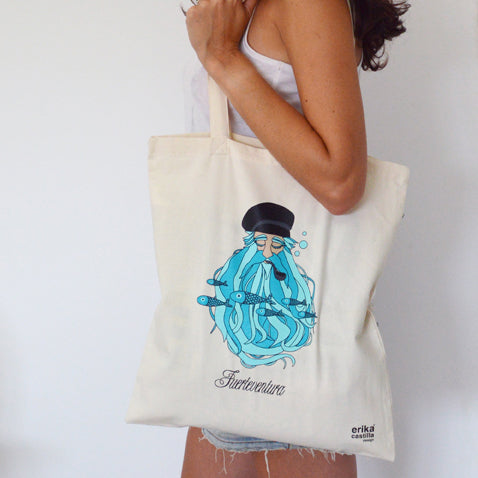 Totebag Barbudo - Mojo Art Shop