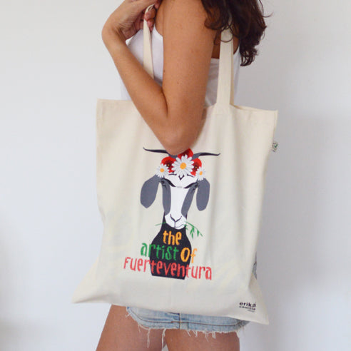 Totebag Cabra Frida - Mojo Art Shop