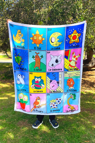 Loteria fleece blanket