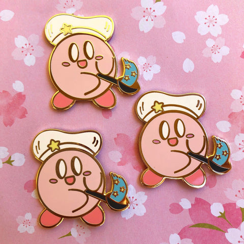Chef Kirby enamel pin