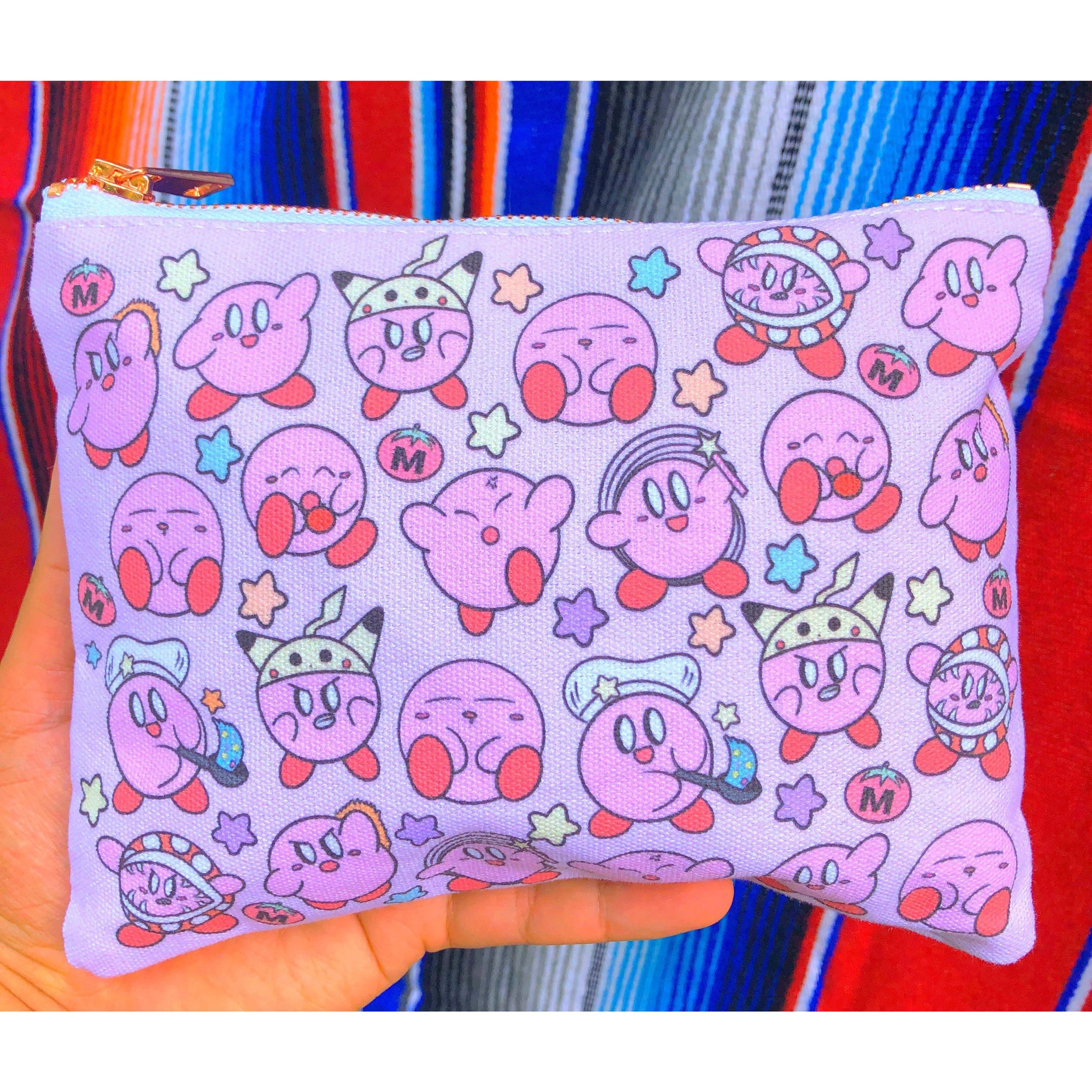 Kirby party zipper pouch