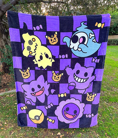 Ghost Halloween blanket fleece