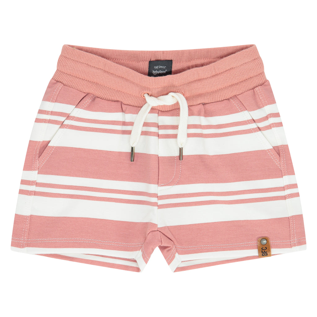 Salmon Striped Shorts 21207245