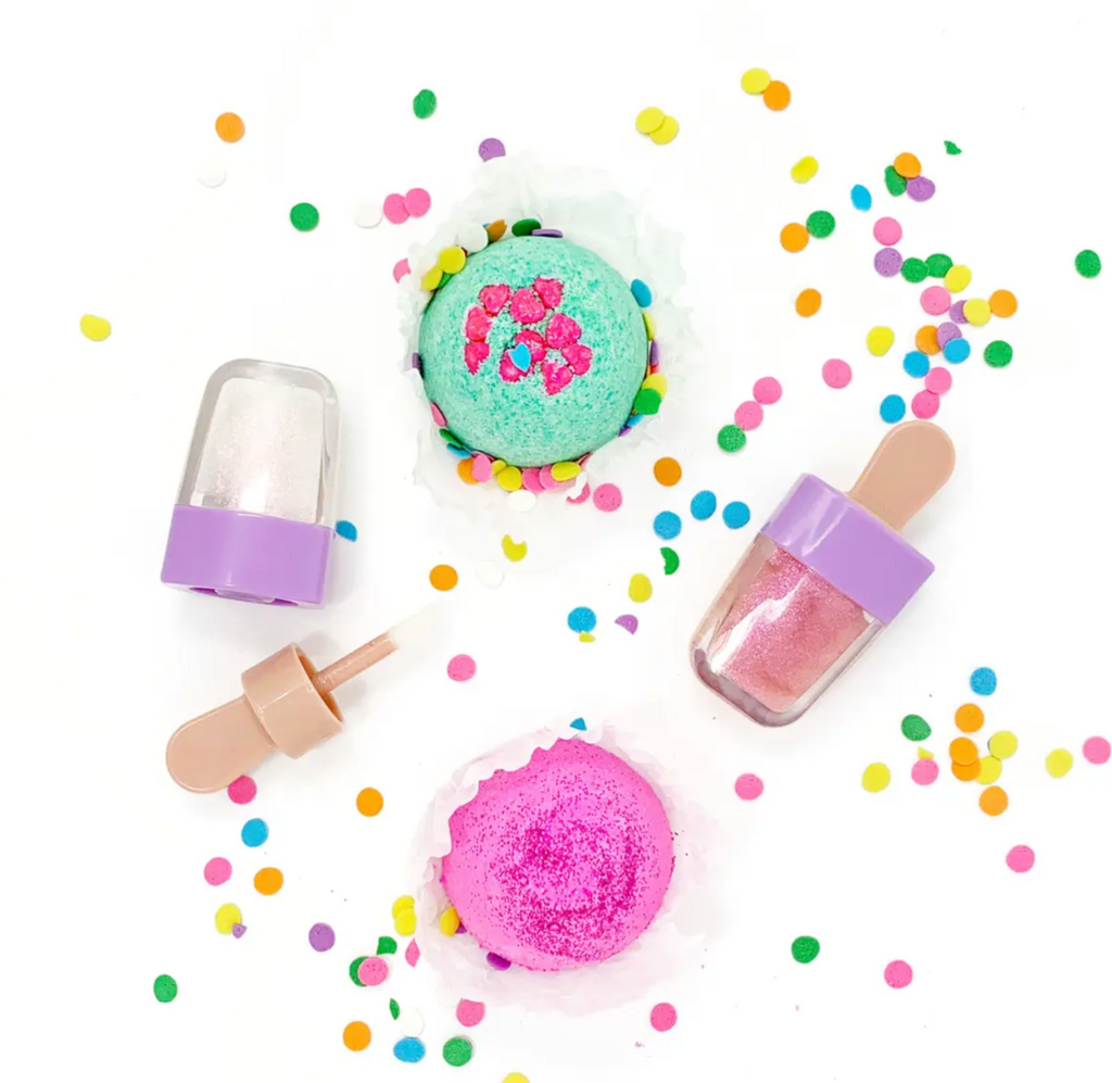 Sweet Treat Bath Bombs and Lip Gloss