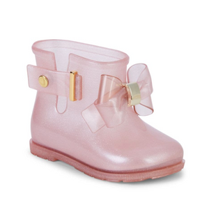 SUGAR PINK RAIN BOOT w/ BOW