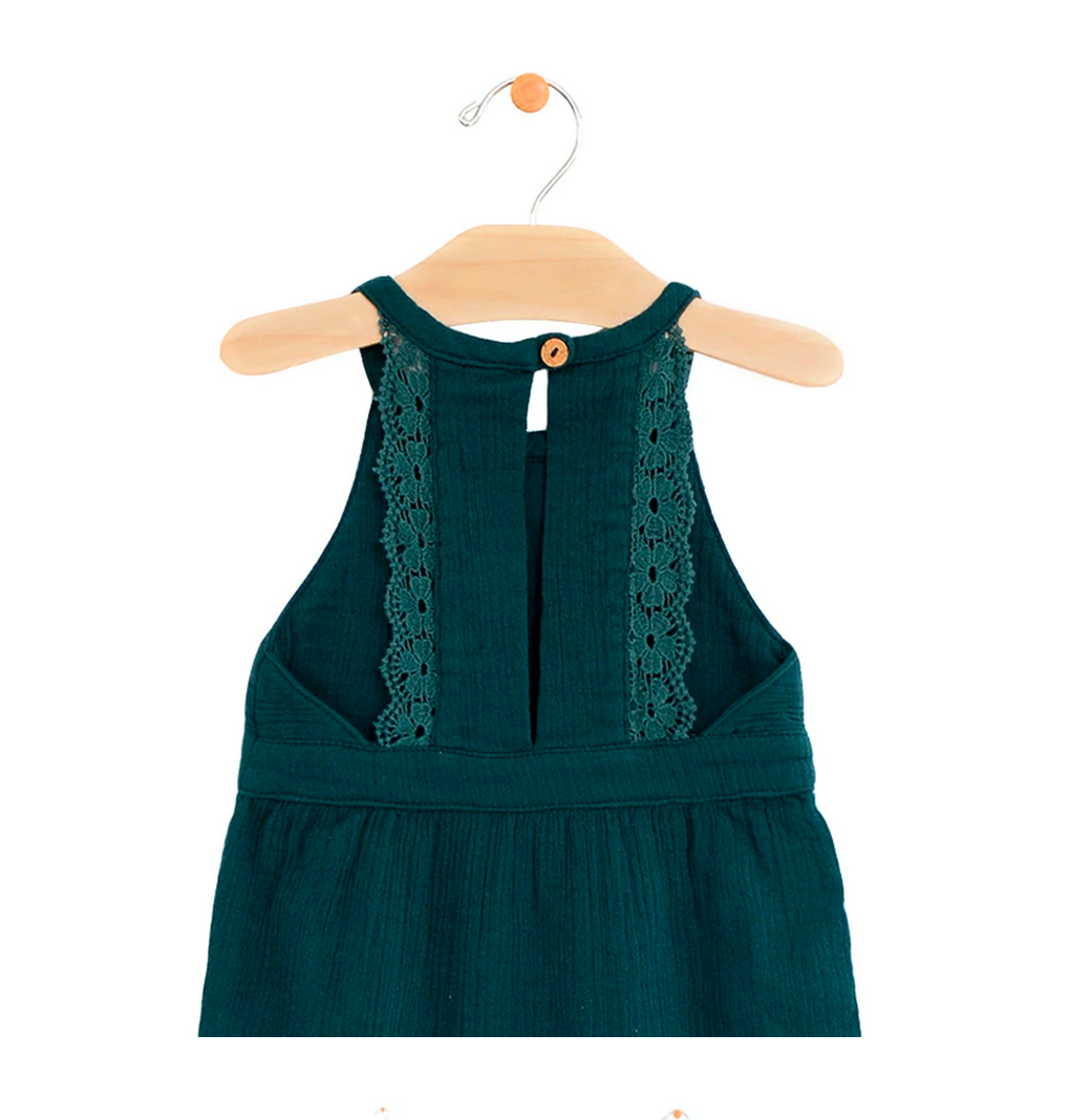 Crinkle Cotton Lace Back Romper (SPBG016)