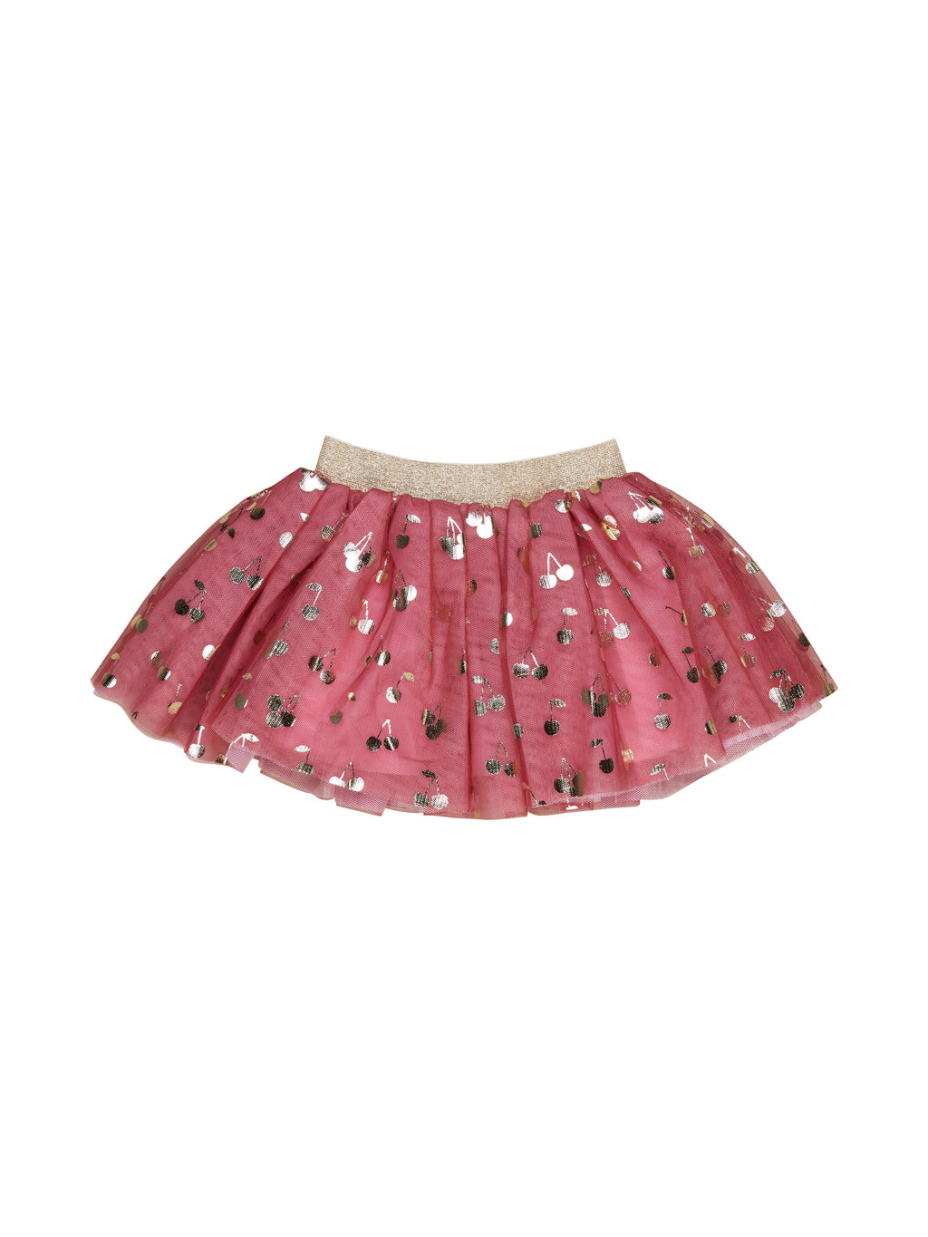 Gold Cherry Tulle Skirt HB1879