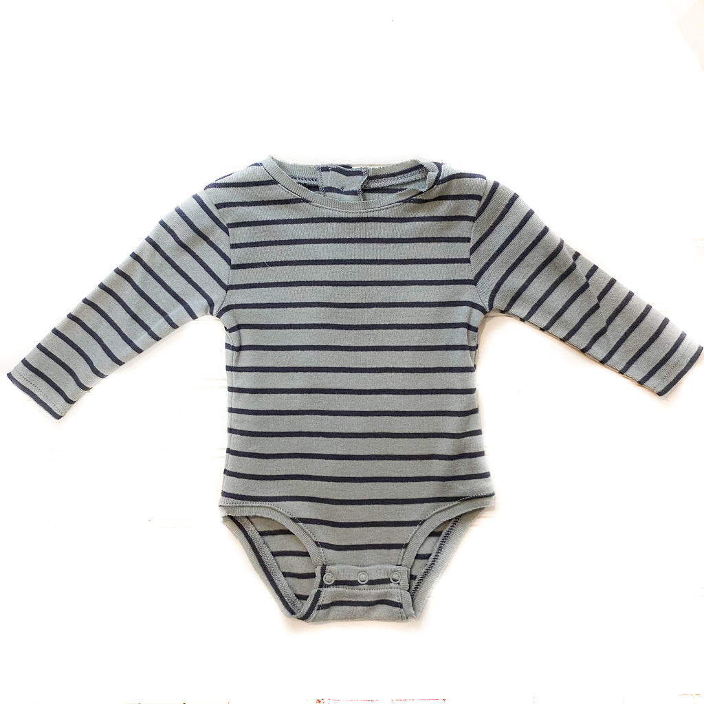 AH11202 Striped Rib Bodysuit