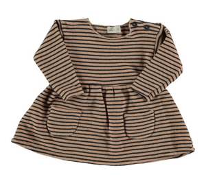 Ant Striped Warm Fleece Dress