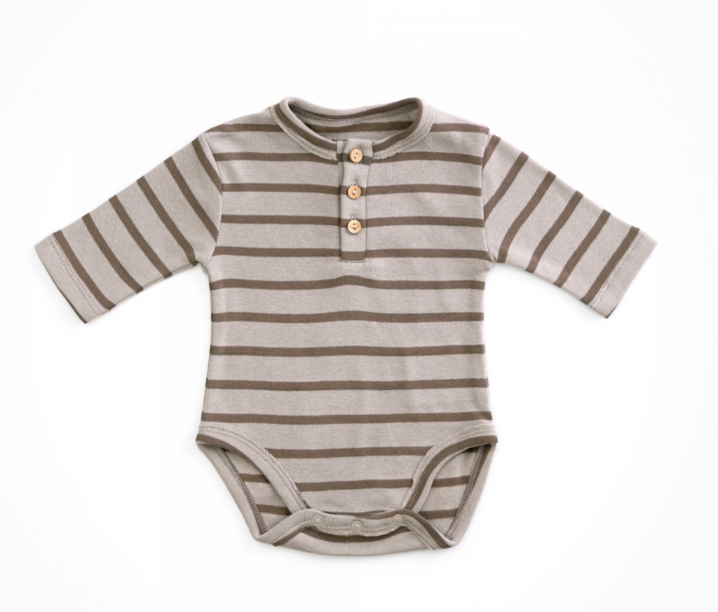 1AH11200 Striped Rib Bodysuit