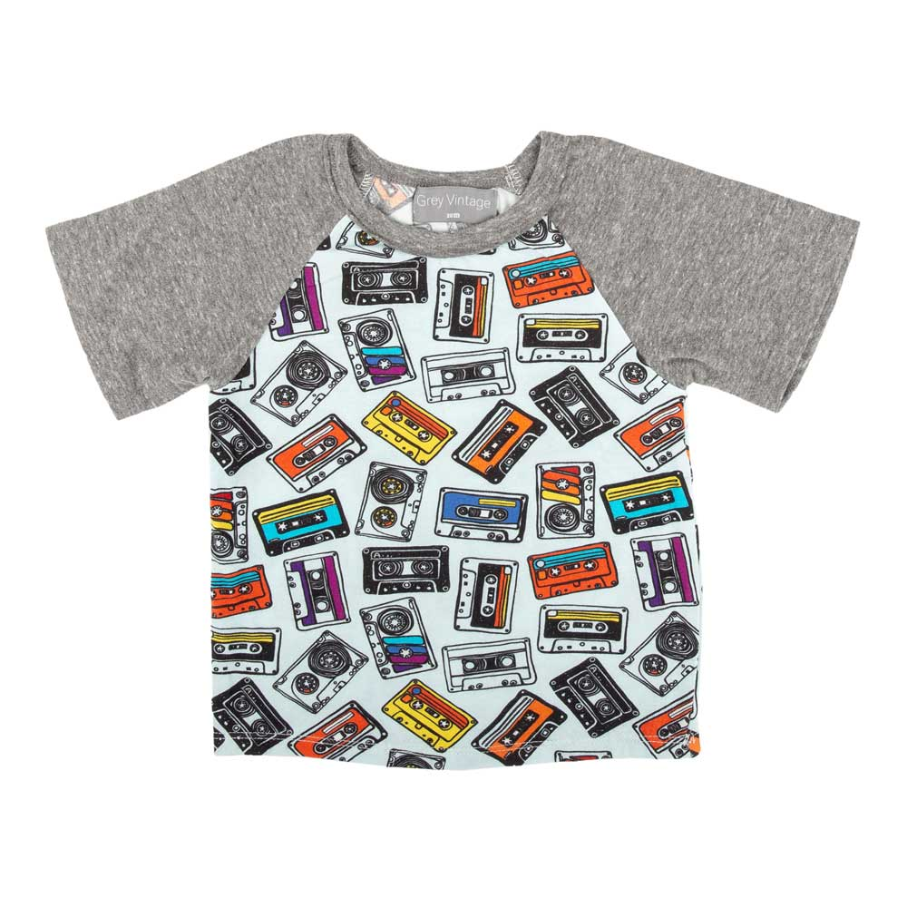 Sidney Printed Tee Mixed Tape