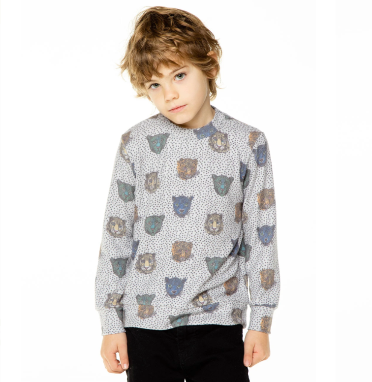 Big Cat Party Soft Pullover CB1111-MISTY