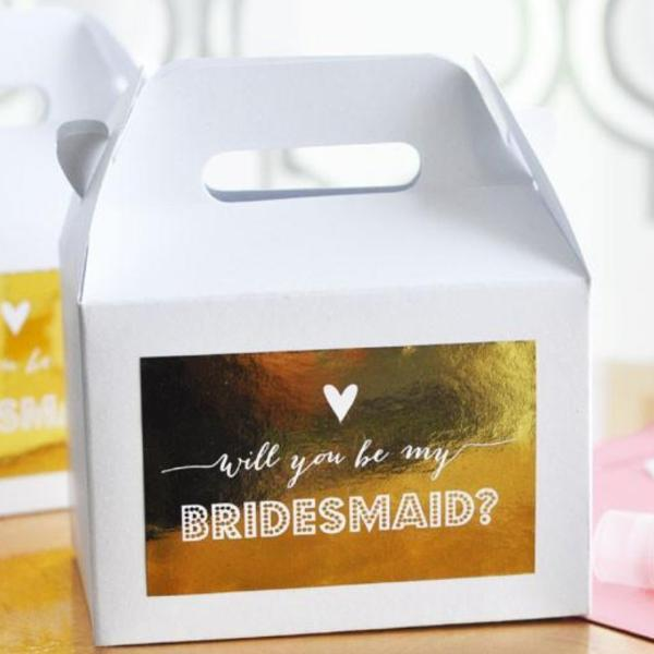 Bridesmaid & Maid of Honor Gift Box Set with Labels (set of 8)