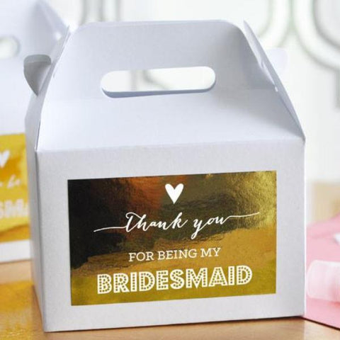 Thank You For Being My Bridesmaid & Maid of Honor Gift Box [set of 8]