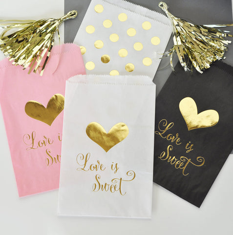 Gold Foil Goodie Bags Candy Buffet Sweet [Set of 12]