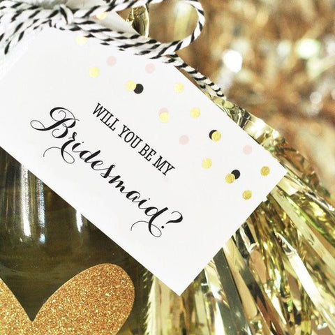 Will You Be My Bridesmaid & Maid Of Honor Gift Tag Tassel Set