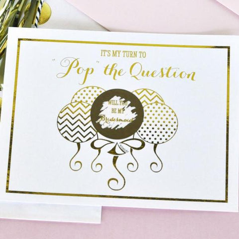 bridesmaid scratch off cards