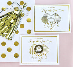 "Bridesmaid Scratch Off Greeting Card ""Pop The Question"" (set of 8, with envelopes)"