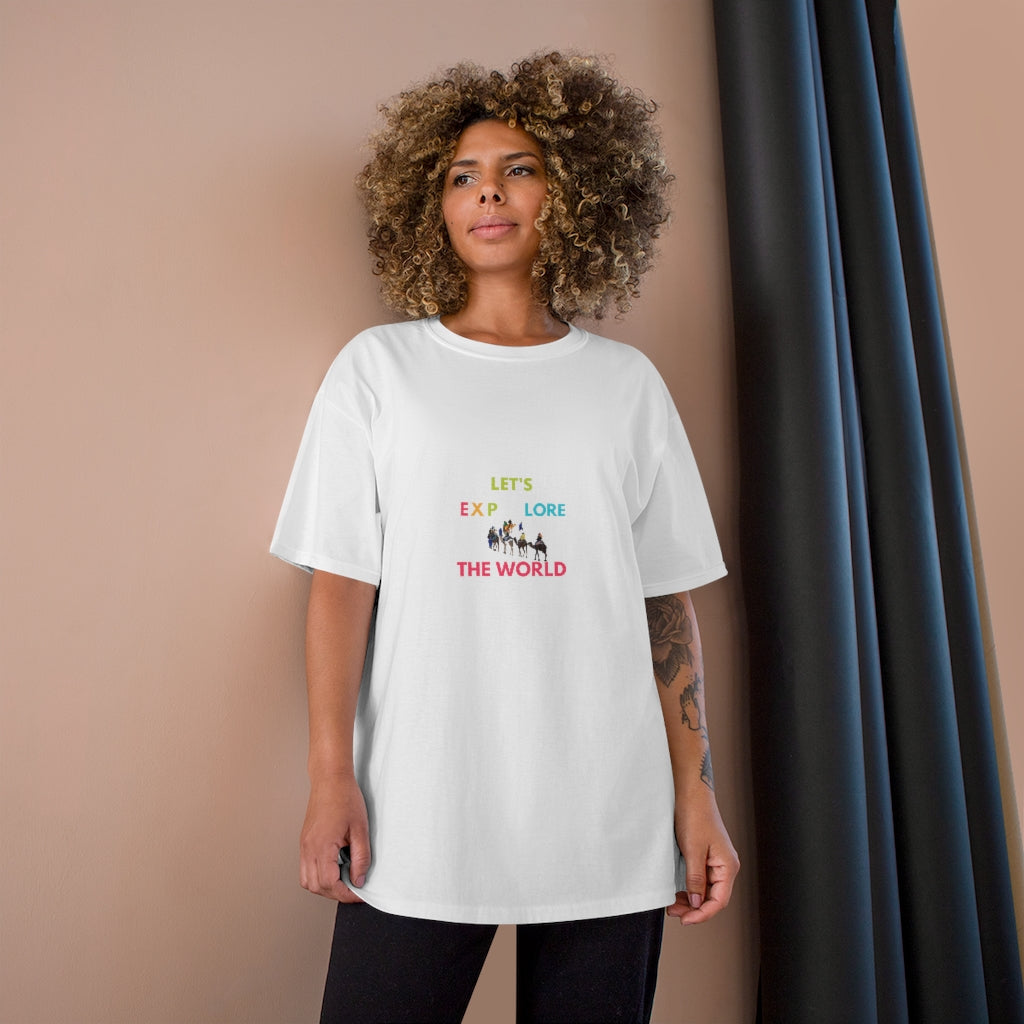 Champion Unisex Let's Explore The World Tee