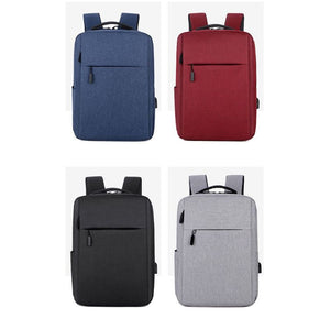 Slim Waterproof Backpack with USB Charging Port
