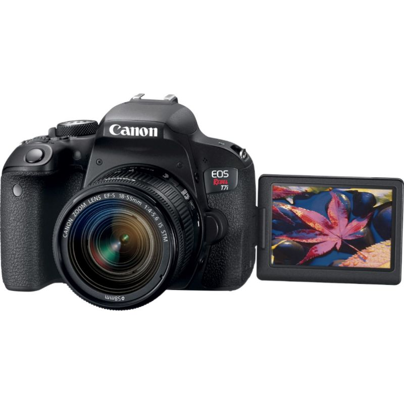 Canon EOS Rebel T7i DSLR Video Camera with EF-S 18-55mm IS STM Lens