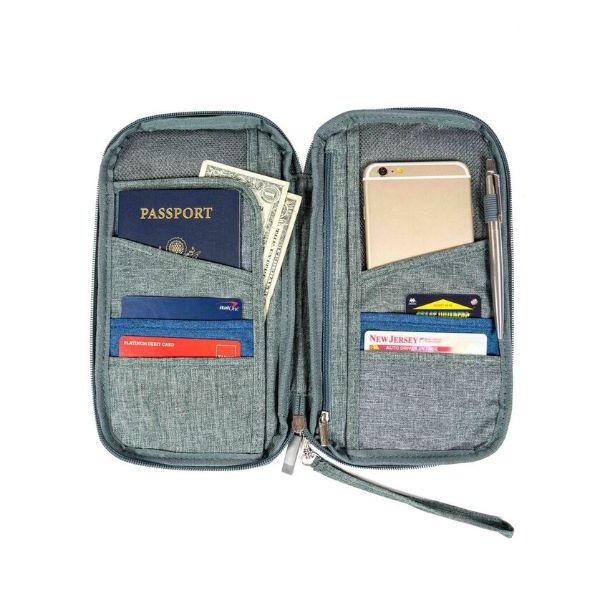 Passport Wallet Unisex Travel Organizer