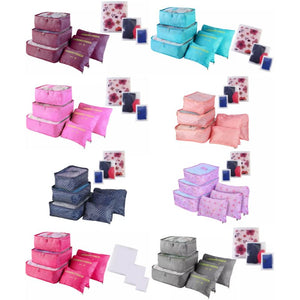 Travel Organizer Packing Cube Storage Bags - 9 Piece Set