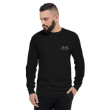 Men's Travel Champion Long Sleeve Shirt - Travel Attractive